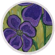 Dream Round Beach Towel by Tanielle Childers