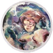 Dream Walker Round Beach Towel