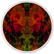Dream Weaver  Round Beach Towel by Tlynn Brentnall
