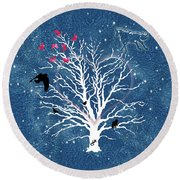 Dreamcatcher Tree Round Beach Towel by Methune Hively