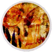 Dreamcatcher Round Beach Towel