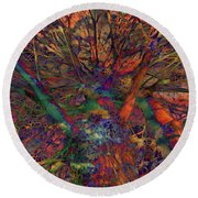 Round Beach Towel featuring the digital art Dreamers by Robert Orinski