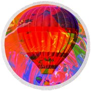 Round Beach Towel featuring the photograph Dreaming Across The Sky by Jeff Swan