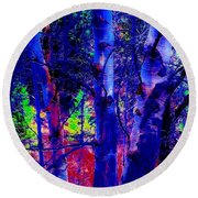 Dreaming Aspens Round Beach Towel