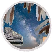 Dreaming Bench Round Beach Towel