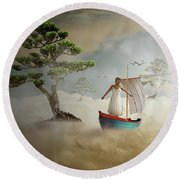 Round Beach Towel featuring the digital art Dreaming High by Nathan Wright