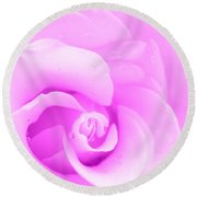 Dreaming In Lavender Round Beach Towel
