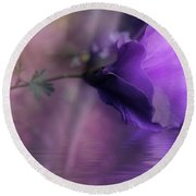 Dreaming In Purple Round Beach Towel