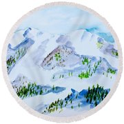 Dreaming Of A White Christmas Round Beach Towel