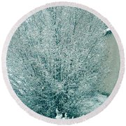 Round Beach Towel featuring the photograph Dreaming Of A White Christmas - Winter In Switzerland by Susanne Van Hulst