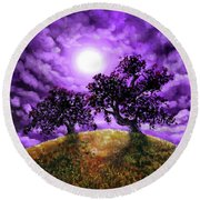 Dreaming Of Oak Trees Round Beach Towel