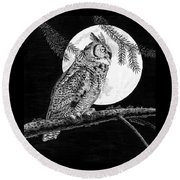 Dreaming Of The Night Round Beach Towel