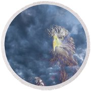 Dreaming Of The Sky Round Beach Towel