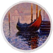 Dreaming Of Venice.. Round Beach Towel