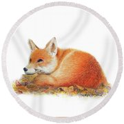 Dreaming Round Beach Towel by Phyllis Howard