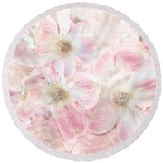 Dreaming Pink Round Beach Towel