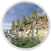 Round Beach Towel featuring the photograph Dreaming Pond by Sean Sarsfield
