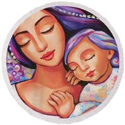 Dreaming Together Round Beach Towel