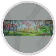 Dreaming Trees Round Beach Towel