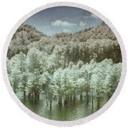 Dreaming Without Words Round Beach Towel