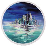 Dreamland Isle Round Beach Towel