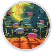 Dreamland Round Beach Towel