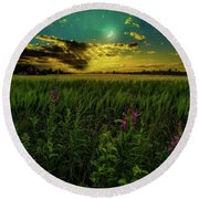 Round Beach Towel featuring the photograph Dreamland by Rose-Marie Karlsen