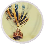 Dreams And Clouds Round Beach Towel