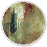 Dreams Come True - Earth Tone Art - Contemporary Pastel Color Abstract Painting Round Beach Towel