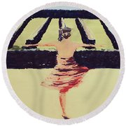 Dreams Of A Dancer Round Beach Towel