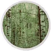 Dreams Of A Forest Round Beach Towel