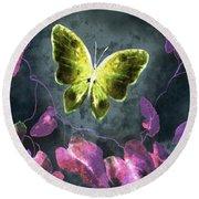 Dreams Of Butterflies Round Beach Towel