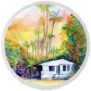 Dreams Of Kauai 3 Round Beach Towel