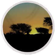 Dreams Of Namibian Sunsets Round Beach Towel by Ernie Echols