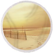 Dreams Of Summer Round Beach Towel
