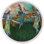 Dreamscape Round Beach Towel by Betsy Knapp