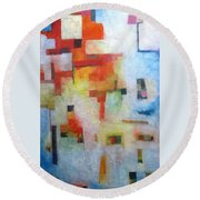 Dreamscape Clouds Round Beach Towel