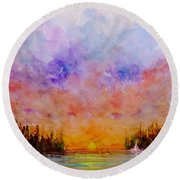 Dreamscape.. Round Beach Towel