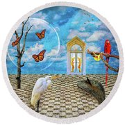 Dreamscape Three Round Beach Towel