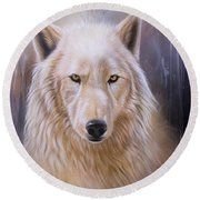 Dreamscape Wolf IIi Round Beach Towel