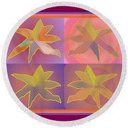 Dreamtime Starbirds Round Beach Towel