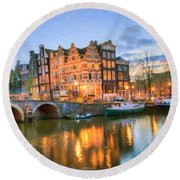 Dreamy Amsterdam   Round Beach Towel
