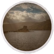 Dreamy Castle #g8 Round Beach Towel