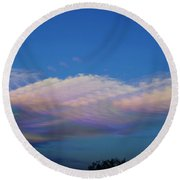 Dreamy Clouds Round Beach Towel