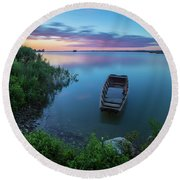 Round Beach Towel featuring the photograph Dreamy Colors Of The East by Davor Zerjav