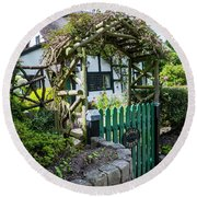 Cottage Of Dreams Round Beach Towel
