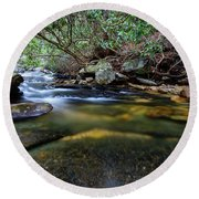 Dreamy Creek Round Beach Towel