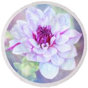 Dreamy, Delightful Dahlia Round Beach Towel