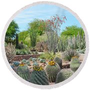 Dreamy Desert Cactus Round Beach Towel by Aimee L Maher Photography and Art Visit ALMGallerydotcom