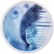 Dreamy Dream Round Beach Towel by Fei A